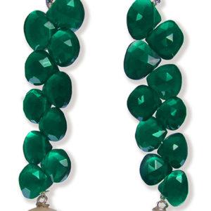 Orecchini con perle di acqua dolce e pietre naturali